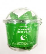 Крем для лица ночной с центеллой AYOUME ENJOY MINI NIGHT CREAM 3г*30шт