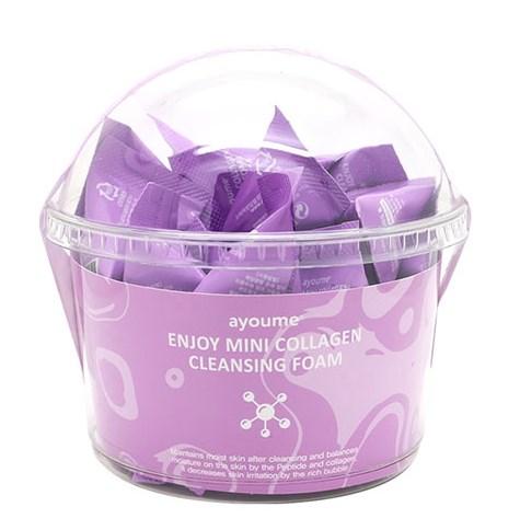 Пенка для умывания с коллагеном Ayoume Enjoy Mini Collagen Cleansing Foam set 3г*200шт: фото